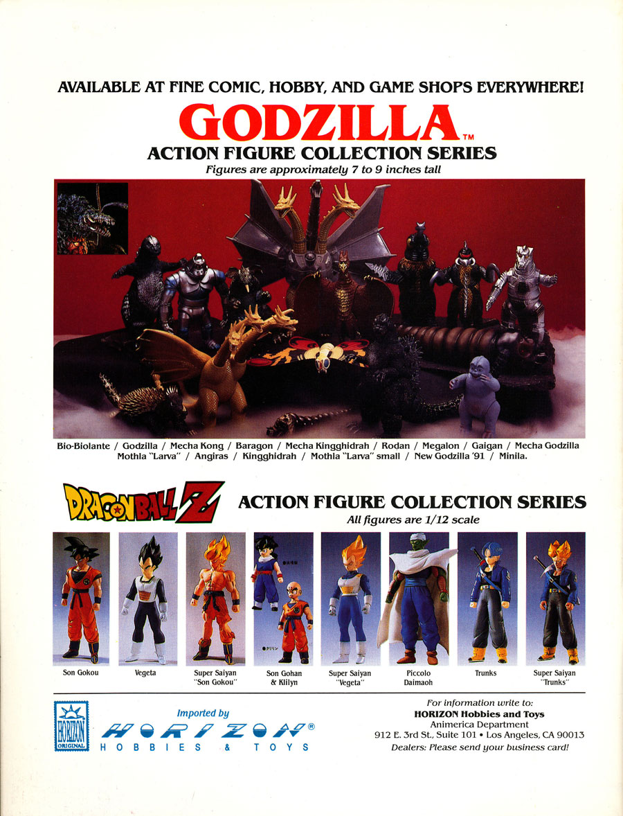 Godzilla-Dragonball-Z-Action-Figures-1993