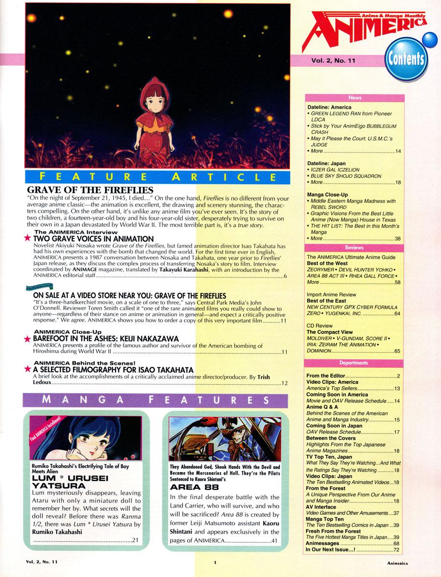 AnimericaIssue2_11_Contents