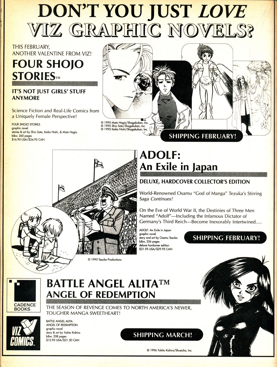 Viz-Graphic-Novel-Ad-Battle-Angel-Alita-Four-Shojo-Stories