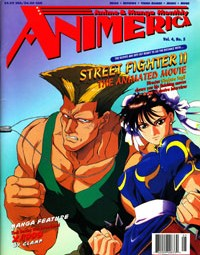 Animerica – Street Fighter – Anime Expo Turns 5 and Soft Cel Ad – May 1996