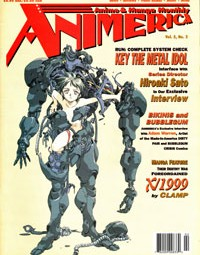 Animerica – Anime Fan Art – Neon Genesis Evangelion Review – Key The Metal Idol – February 1997