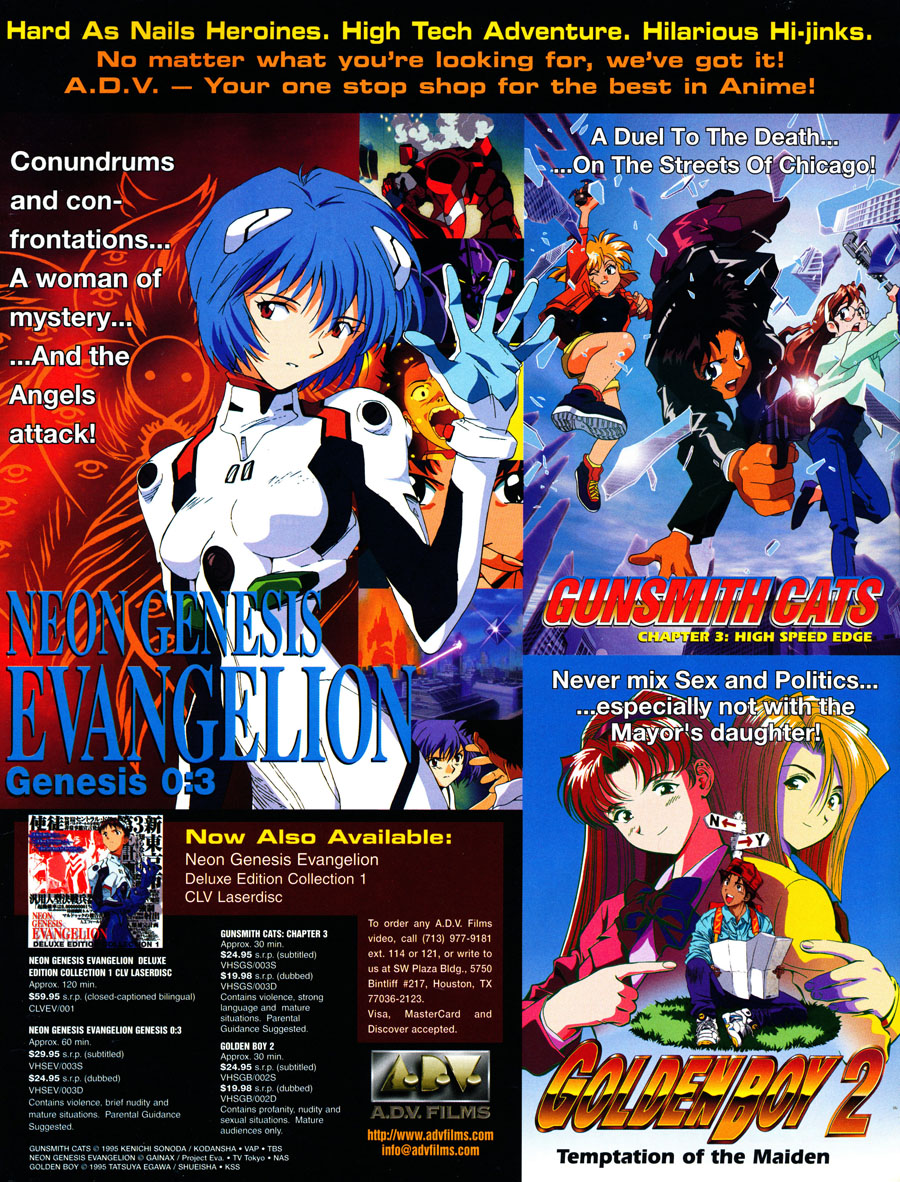 Neon-Genesis-Evangelion-Gunsmith-Cats-Goldenboy-VHS-Ads
