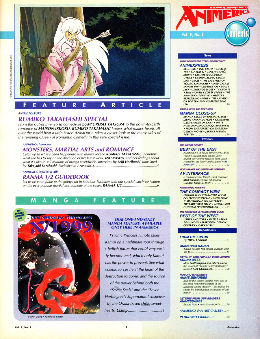 InuYasha-Animerica_May_1997-contents