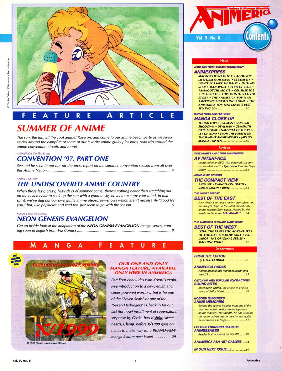 Animerica-August-1997-Sailor-Moon-Contents
