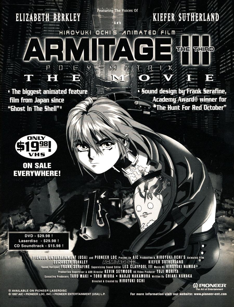 Armitage-the-thrid-polymatrix-movie-hiroyuki-ochi-kiefer-sutherland-elizabeth-berkley-DVD-VHS