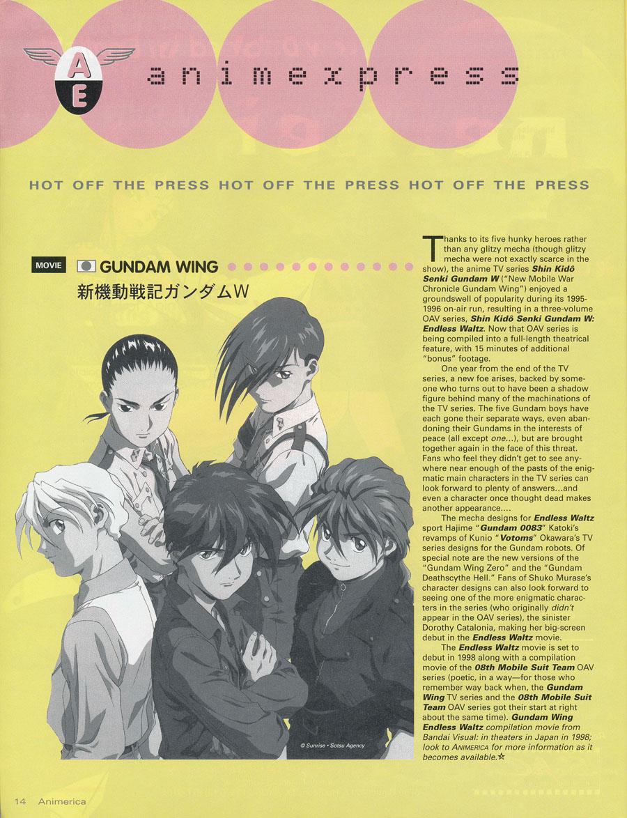 Gundam-Wing-Animerica-News
