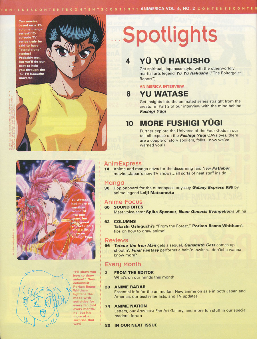 Yu-Yu-Hakusho-Animerica-Contents-Feb-1998