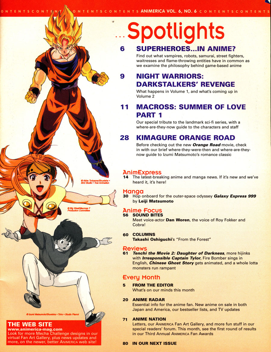 June-1998-Animerica-table-of-contents-goku