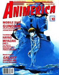 Animerica – Mobile Suit Gundam 20th Anniversary – Ah My Goddess Fan Art – October 1998