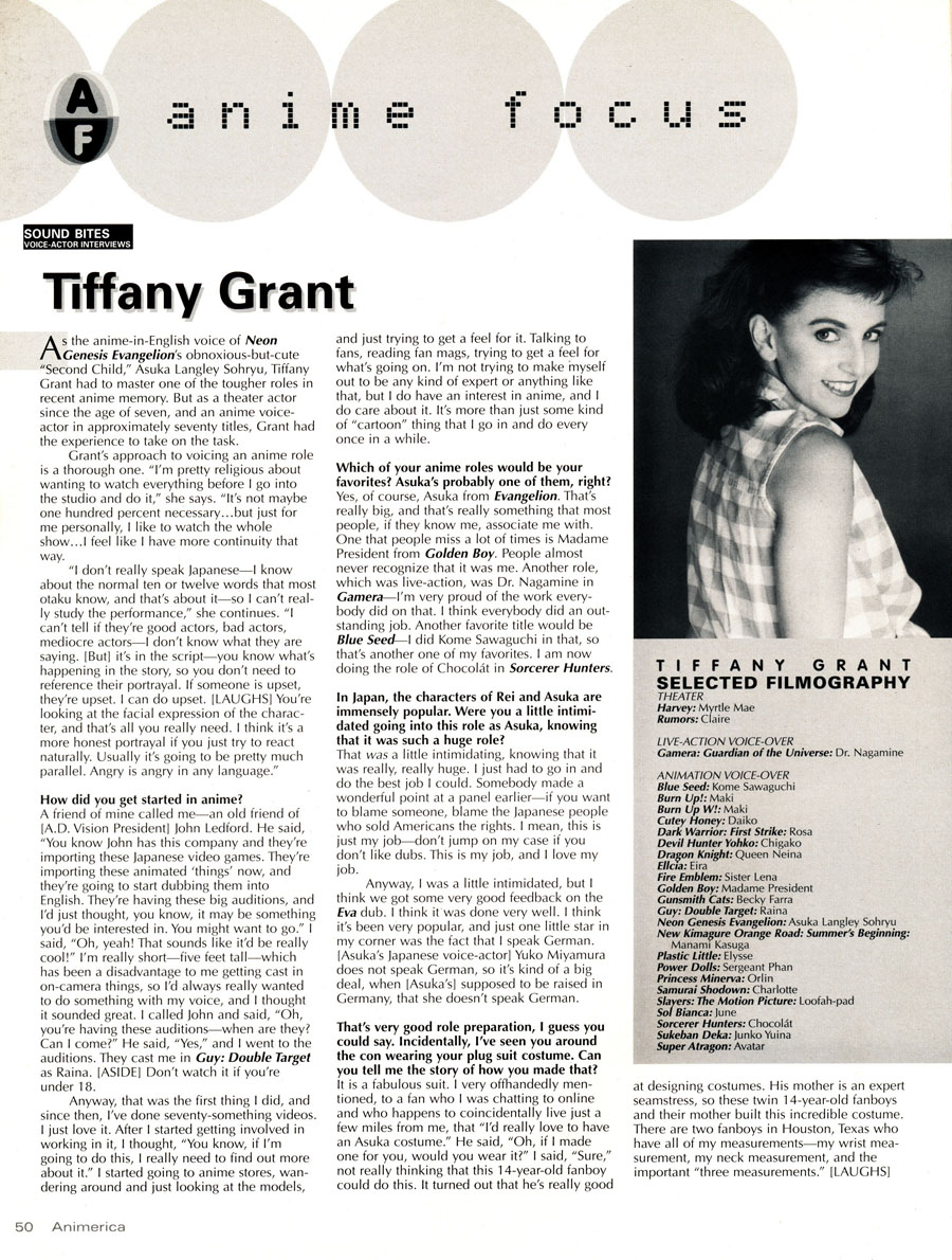 Tiffany-Grant-Animerica-1998-Interview-Part-1