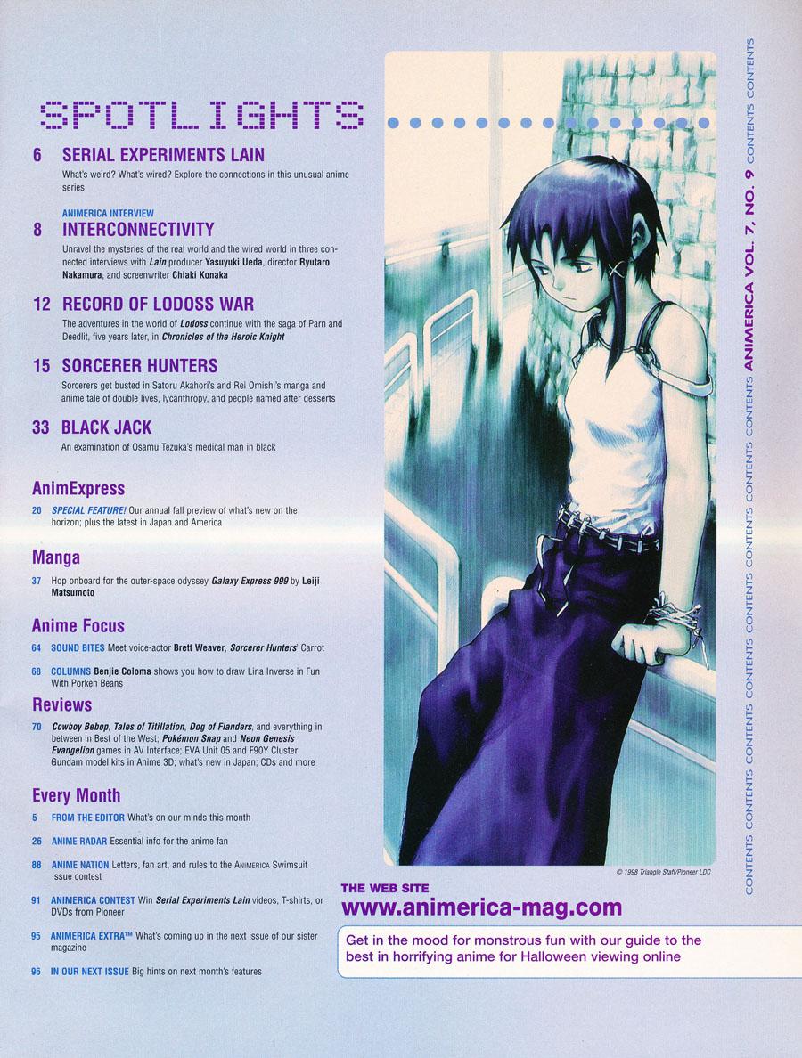 Animerica-september-1999-contents
