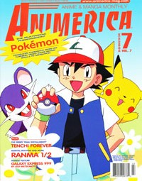1st Pokemon Cover -Pikachu and Ash Ketchum – Animerica July 1999
