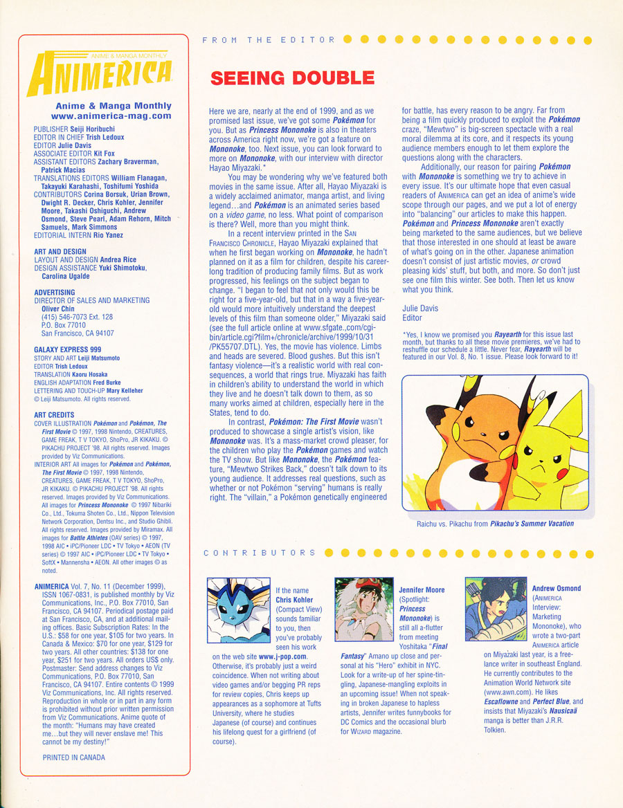 animerica-november-1999-editor-letter-pokemon