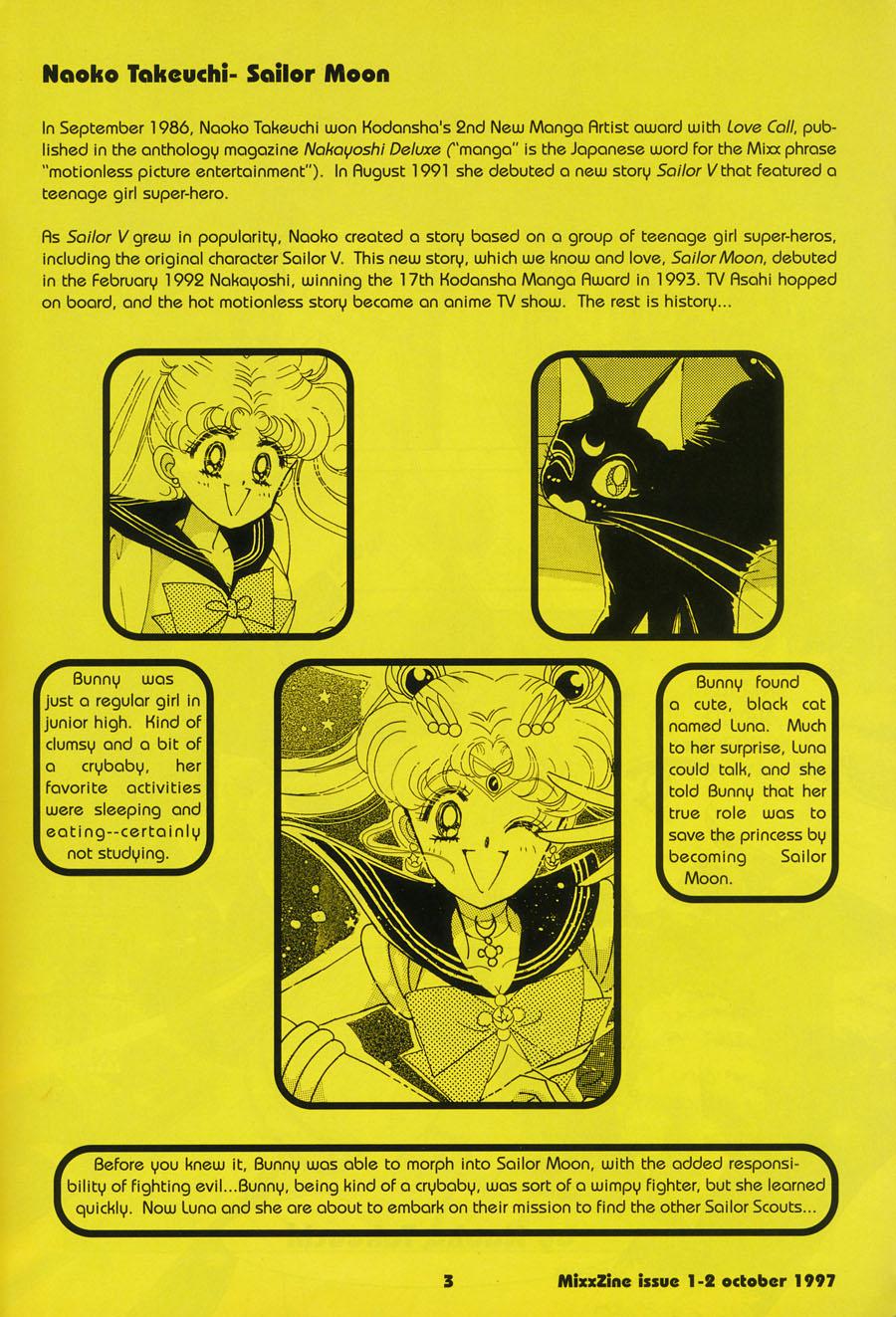 Mixx-Zine-Naoko-Takeuchi-Sailor-Moon-Summary-October-1997-Issue-2