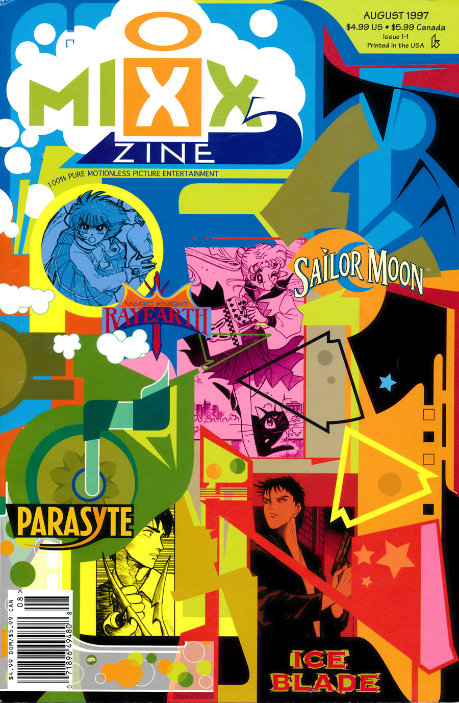 Mizz-Zine-1997-Issue-1-Sailor-Moon-Magic-Night-Rayearth-Cover