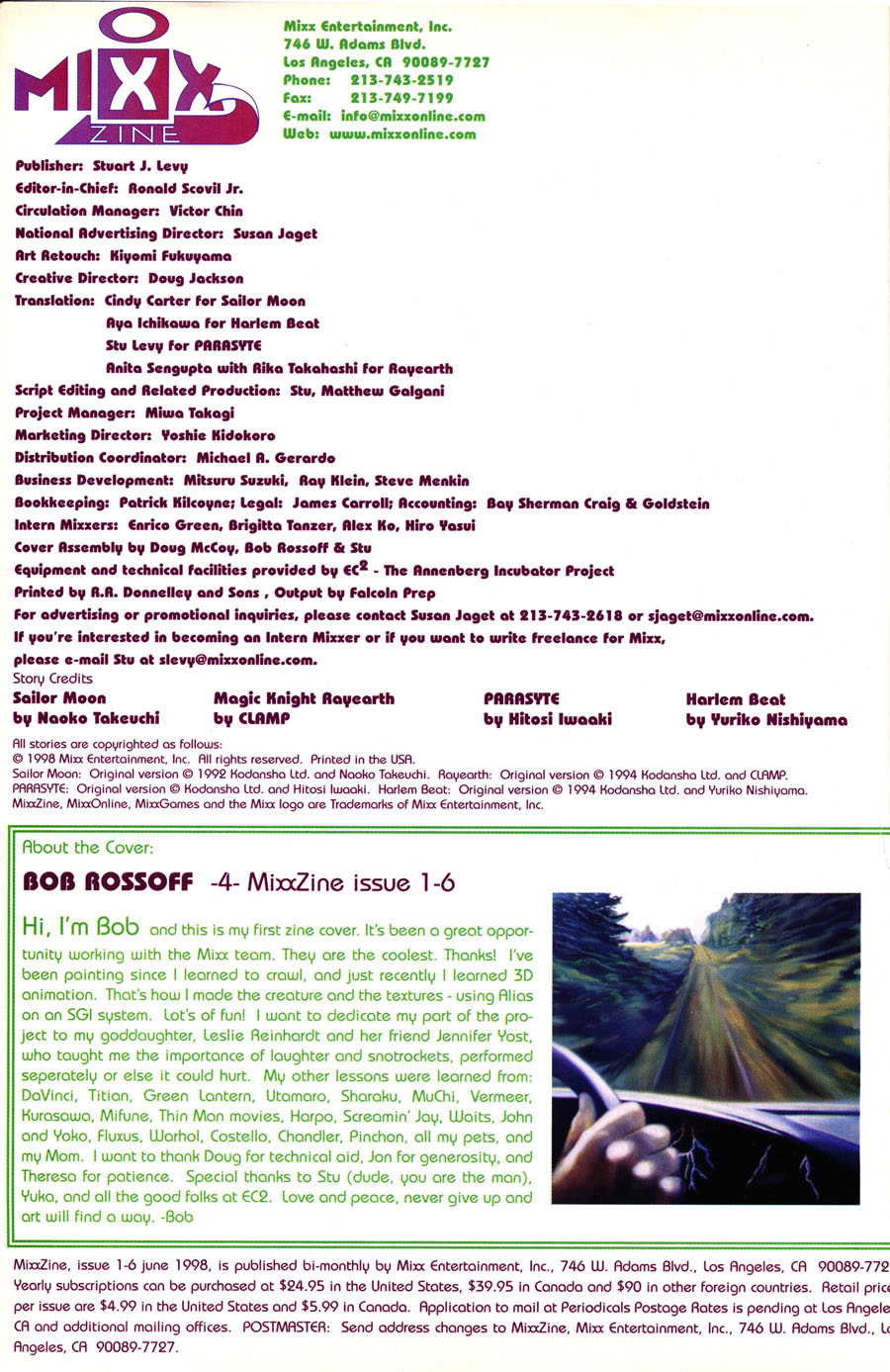 mixx-zine-issue-6-june-1998-contents