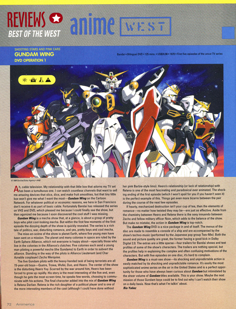gundam-wing-dvd-volume-1-review