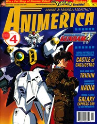 Mobile Suit Gundam Wing – Castle of Cagliostro – Trigun – Animerica April 2000