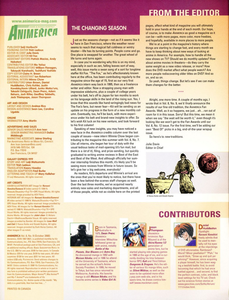 animerica 2000 september contributors writers