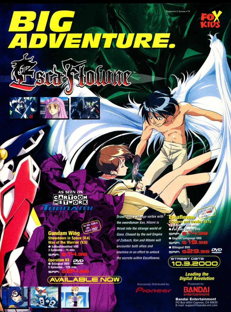 escaflowne fox kids anime